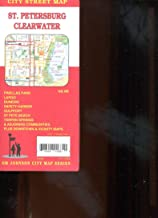 MAP OF ST. PETERSBURG / CLEARWATER FLORIDA /CITY SERIES /STREETS /HUGE FOLDOUT+++