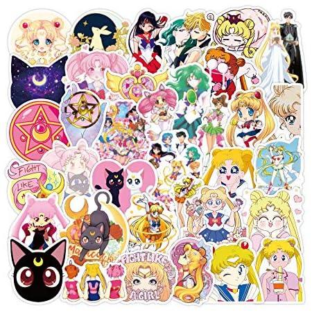 Sailor Moon Waterproof Stickers 50pc Kawaii Japanese Anime