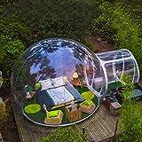 Tienda de Burbujas Inflable para Acampar al Aire Libre Gran casa de Bricolaje Casa Patio Trasero Camping Cabaña Lodge Burbuja de Aire Tienda Transparente