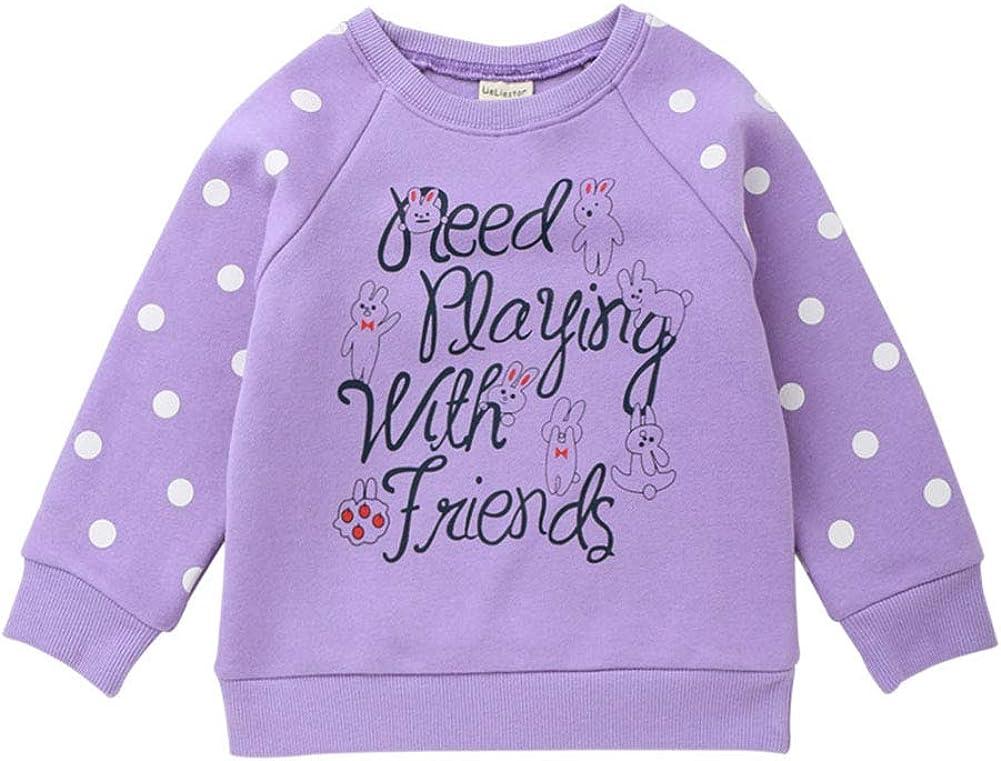 HZYBABY Toddler Baby Girl Boy Pullover Sweatshirt Crewneck Cotton Long Sleeve Top Blouse Fleec Lined