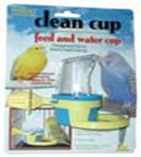 JW Pet Company Clean Cup Feeder and Water Cup Bird Accessory