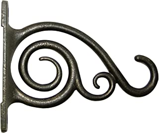 Panacea 100506642 Plant Bracket with Scroll Brushed, Bronze, 6