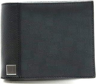[ダンヒル] dunhill D-EIGHT ディーエイト D8 2つ折 財布 レザー PVC ブラック 黒 L2F132Z [中古]