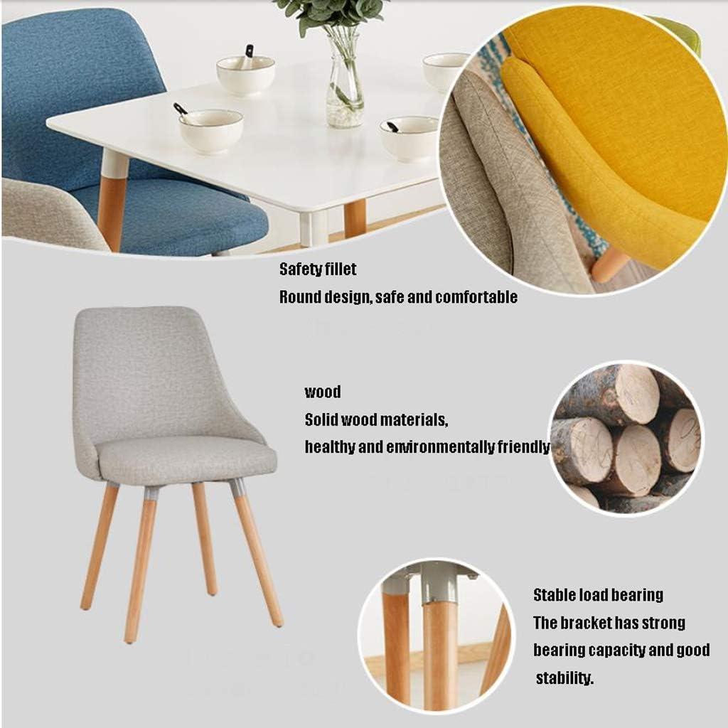 Stable Simple chaise bureau étudiant et chaise de maquillage tabouret retour à la maison à manger chaise d'ordinateur Gratuit (Color : Yellow) Blue