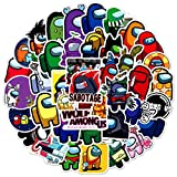 ZXXC 50Pcs Among Us Game Graffiti Stickers Maleta Impermeable Laptop Scooter Pegatinas Impermeables