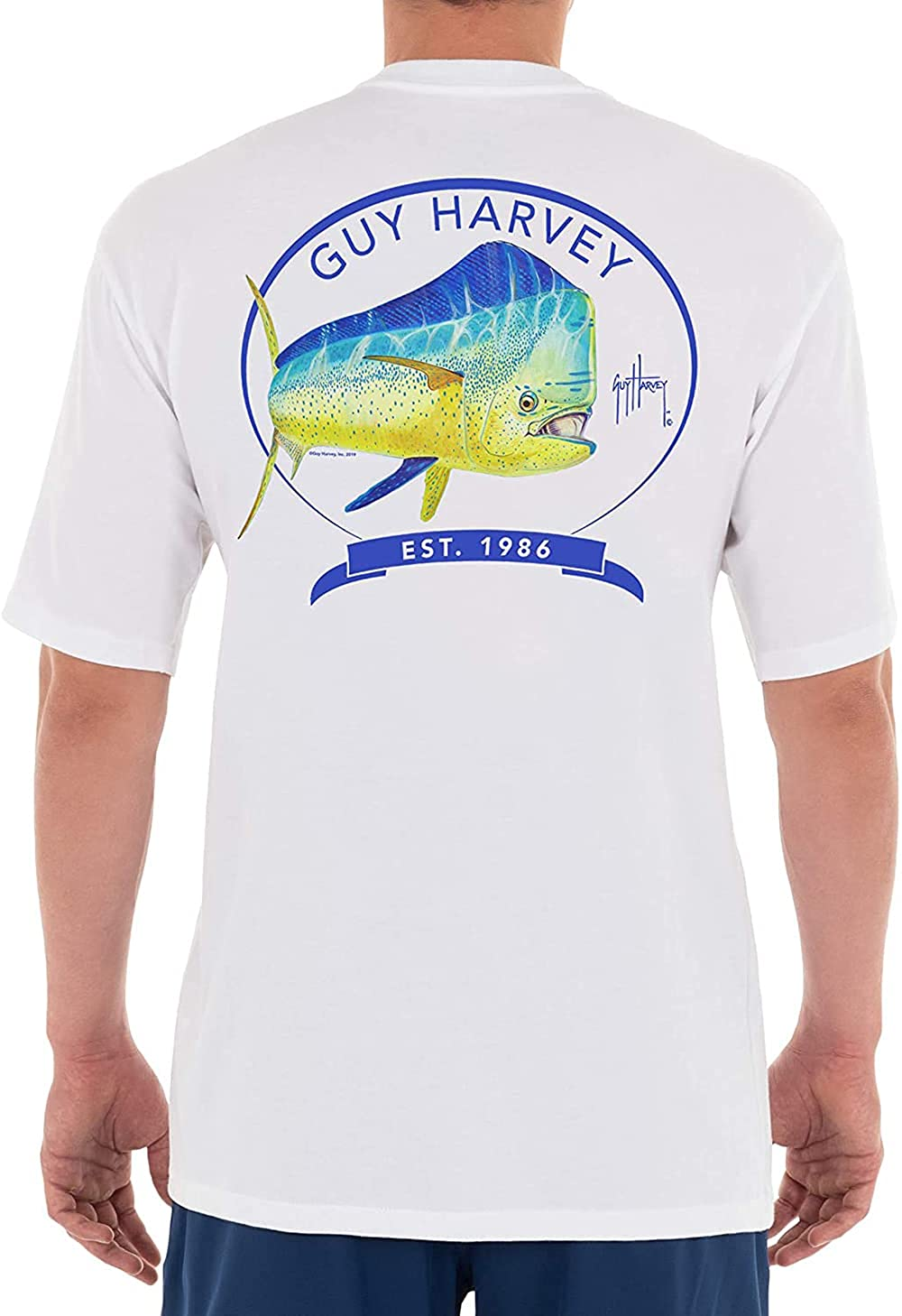 Guy Harvey Men's Genuine Offshore Fish Sleeve Animer and price revision T-Sh Collection Short