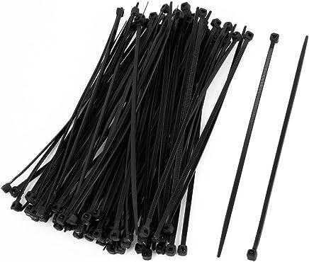 SODIAL(R) 100 Pcs 150mm x 2mm electrique Cable Attache enveloppe Nylon fixation Noir