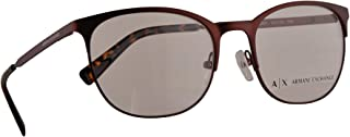 Armani Exchange AX 1025 Eyeglasses 53-18-140 Matte Bordeaux Ruby w/Demo Clear Lens 6001 AX1025