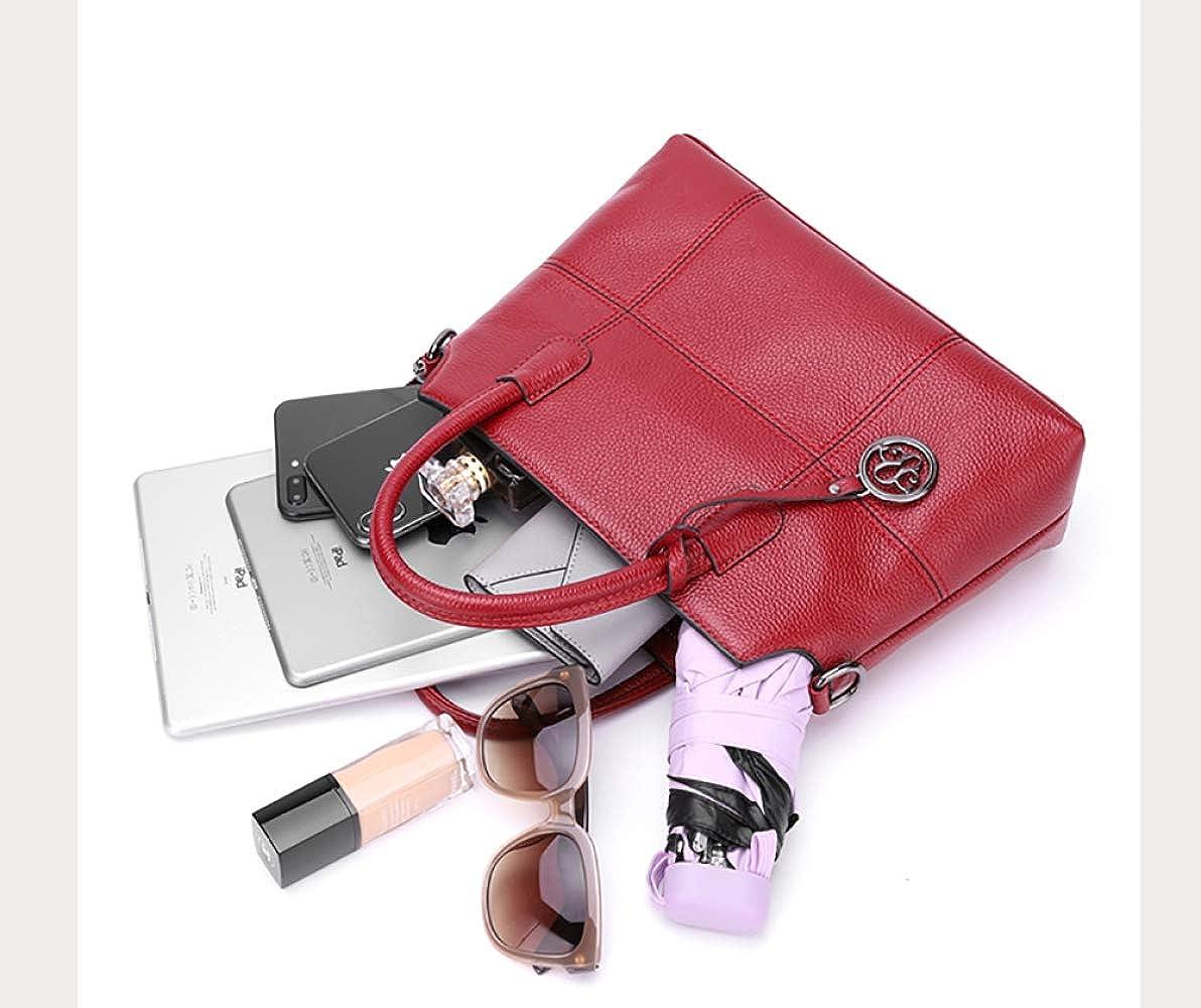 FLHT Sac à main femme cuir sac à main femme bandoulière Trousse de toilette rangement sac à main bandoulière porte documents Lightpurple
