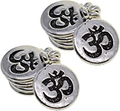 Urna Cremación Memorial 30x Colgante de dijes de Yoga de Plata tibetana DIY for Hacer Joyas de Collar - Lotus, como se Describe, Color: Árbol Cremation Jewelry Collar con Colgante de Acero Ino