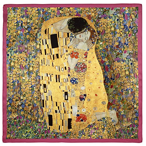Klimt The Kiss' Square Satin Chiffon Scarf