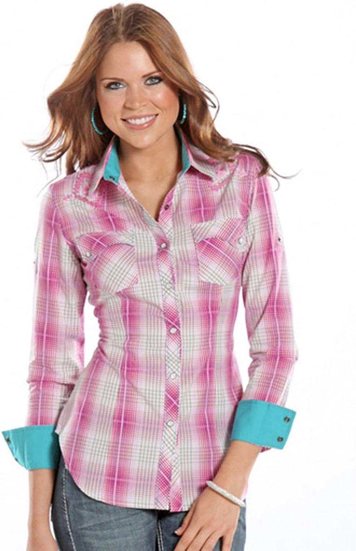 Desert pink Pink Plaid Western Shirt