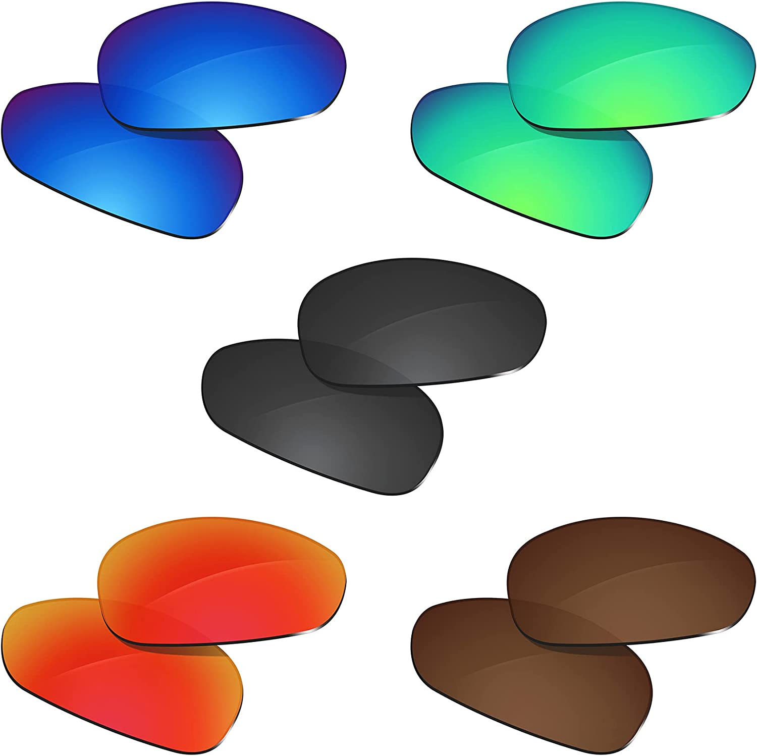 Glintbay NEW before selling ☆ 5 Pairs mart Replacement Lenses Pack-BBRGB Juliet for Oakley