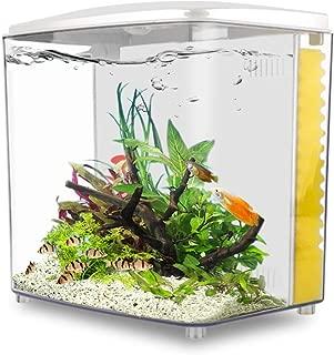 YCTECH 1.4 Gallon Square Betta Aquarium Starter Kits, Fish Tank with LED Light and Filter Pump