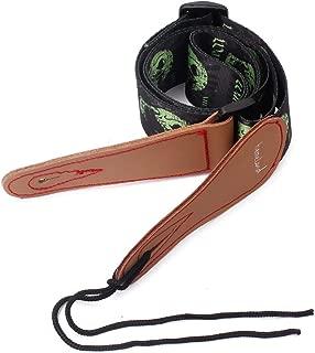 Tracolla per chitarra elettrica in pelle impermeabile motivo serpente in rilievo Wine Red Rosso vinaccia YanHeMingKeJi