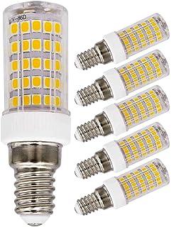 Bombilla LED E14 7 W, Equivalente a 70W 60 W Blanco cálido 220 V 230 V 3000 K, 700 lm para Dormitorio salón araña Lámpara araña pequeña, ahorro energía (paquete de 5)