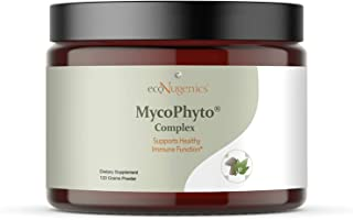 EcoNugenics MycoPhyto Complex Immune System Support Mushroom Blend Supplement Powder 120 Gram- Reishi, Turkey Tail, Cordyc...