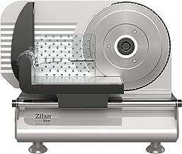 Zilan - Coupe-pain - Trancheuse à pain, Trancheuse universelle,150W - Lame en acier inoxydable de 190 mm de diamètre - Épa...