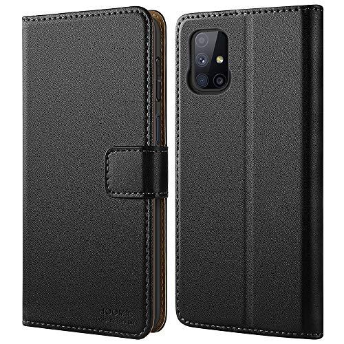 HOOMIL Handyhülle für Samsung Galaxy M51 Hülle, Premium PU Leder Flip Case Schutzhülle für Samsung Galaxy M51 Tasche (Schwarz)
