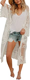 Beach Coverups for Women Kimono Robes Cardigans Cover UP...