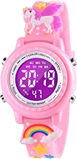Sponsored Ad - VAPCUFF 3D Cartoon Waterproof Kids Watches with Alarm - Best Toys Gifts for Girls Age 3-10