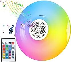 Slimme Lamp Met Bluetooth-luidspreker, RGB-veranderende Kleur Dimbare Muziekspeler Plafondlamp, LED-afstandsbediening Disc...