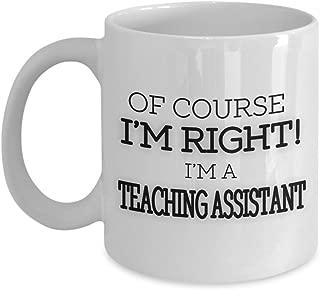 shaniztoons TA Teaching Assistant Teacher Assistant Christmas Novelty Gift Mug