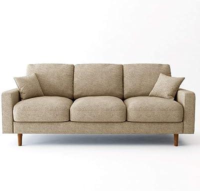 Danube Home Kristen 3 Seater Fabric Sofa - Beige