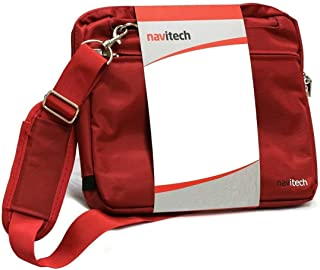 Navitech Red Graphics Tablet Case//Bag Compatible with The HUION KAMVAS Pro 12 GT-116 Graphics Drawing Monitor