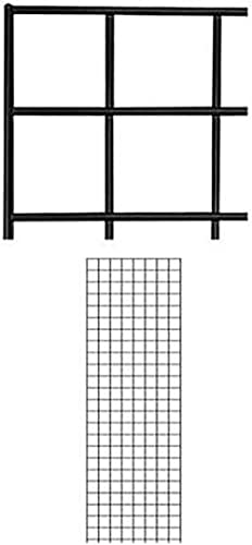 2' X 6' Wire Grid Panel - Black