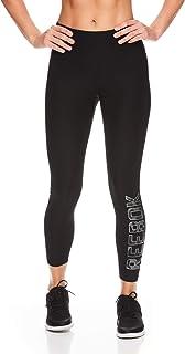 Reebok - Leggings da allenamento da donna 7/8 con vita alta,