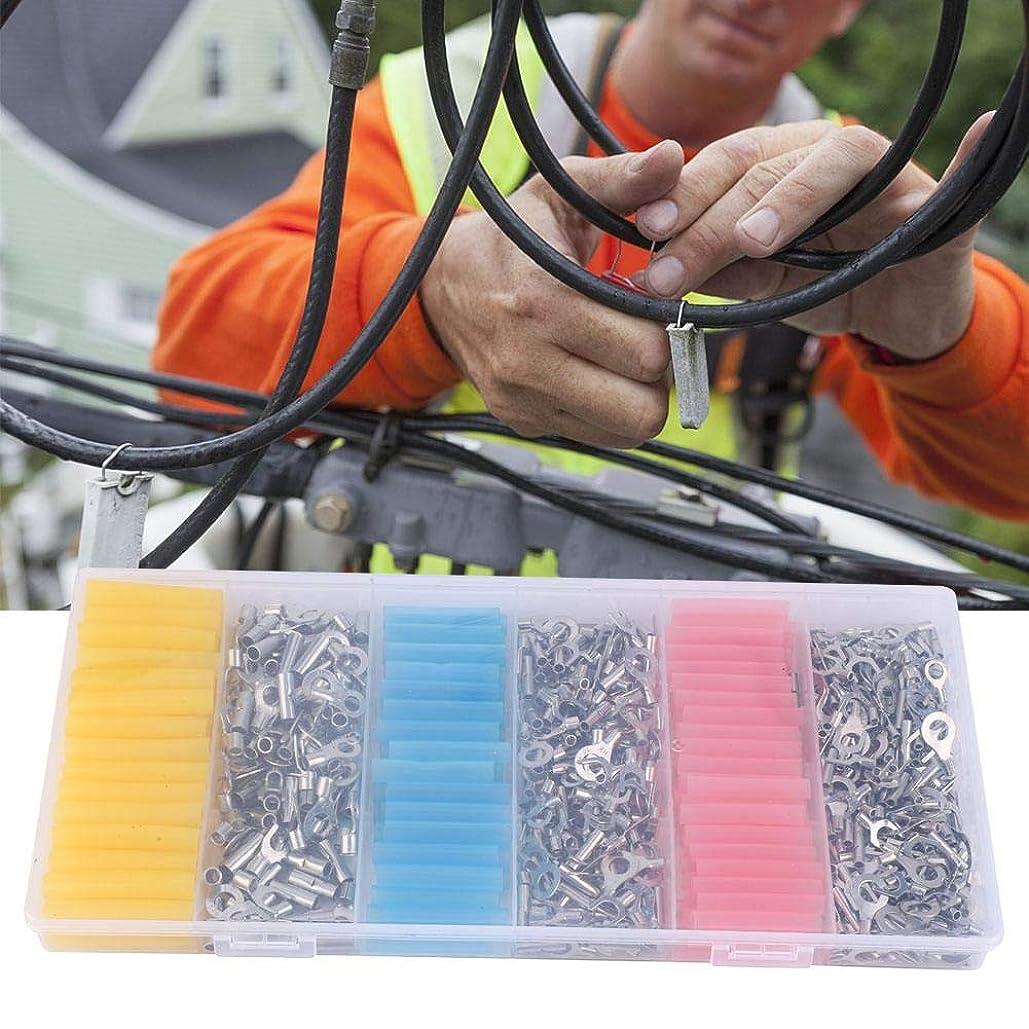 飛行機交じる輝く530PCS各種圧着端子+135PCS熱収縮チューブワイヤーケーブルツールセット
