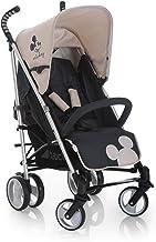 Hauck Spirit light silla de paseo infantil Disney, plegable, silla paraguero, empuñaduras ergonómicas, portavasos, respaldo reclinable, gran cesta con espacio para compra y juguetes, Mickey gris