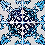 Mi Alma Calcomanías para Azulejos de baño Boho, 24 Unidades, fáciles de aplicar, diseño Tradicional auténtico, Ideal para baño, Cocina, Azulejos de Pared