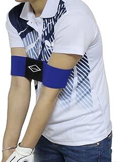 Scott Edward Pro Golf Swing Arm Band Training Aid for Golf Beginners Unisex, Black & Blue