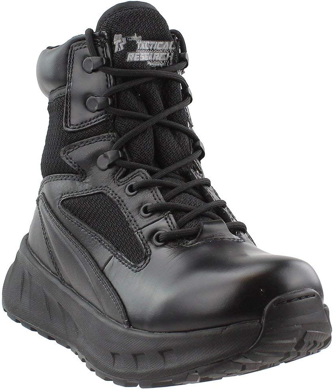 Tactical Research Mens 6 inch Fatt Maxx Side Zipper Work Duty Boots