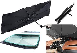 Sedan SUV Car Sun Shade Car Windshield Sun Shade Umbrella UV Rays and Heat Sun Visor Protector Foldable Car Sun Umbrella Block Heat Reflector Umbrell Keep Car Cool Easy to Use/Store,57''x 31''