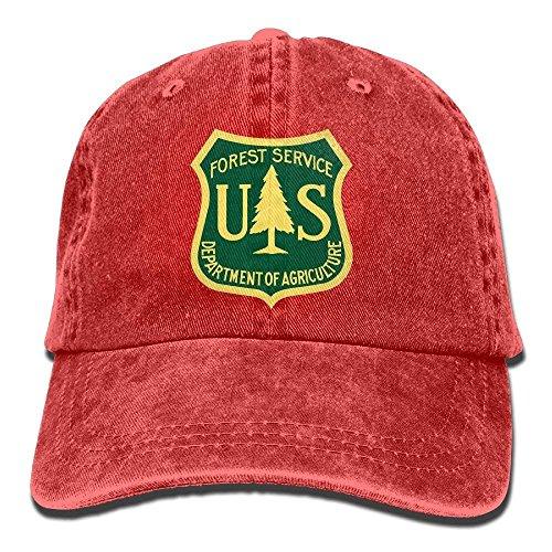 WBinHua Unisexo Gorras de béisbol/Sombrero,Mujer Gorras de béisbol, Unisex Trucker Cap, Dkvmkrvla US Forest Service Flag Adjustable Baseball Caps Denim Hats Cowboy Sport Outdoor