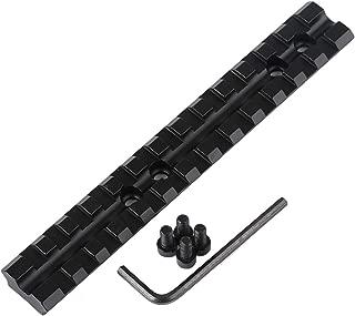 ulightfire 140mm Length Long Rail Mount Dovetail 13 Slot 20mm Width Sight Rail Curved Fishbone Groove Track