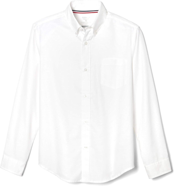 French Toast Boys' Husky Long Sleeve Oxford Shirt (Standard & Husky): Clothing