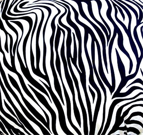 Holzdrehteile Stoff Meterware Dekostoff Baumwollstoff für Gardinen Bekleidung Kissen 140 cm x 100 cm Zebra