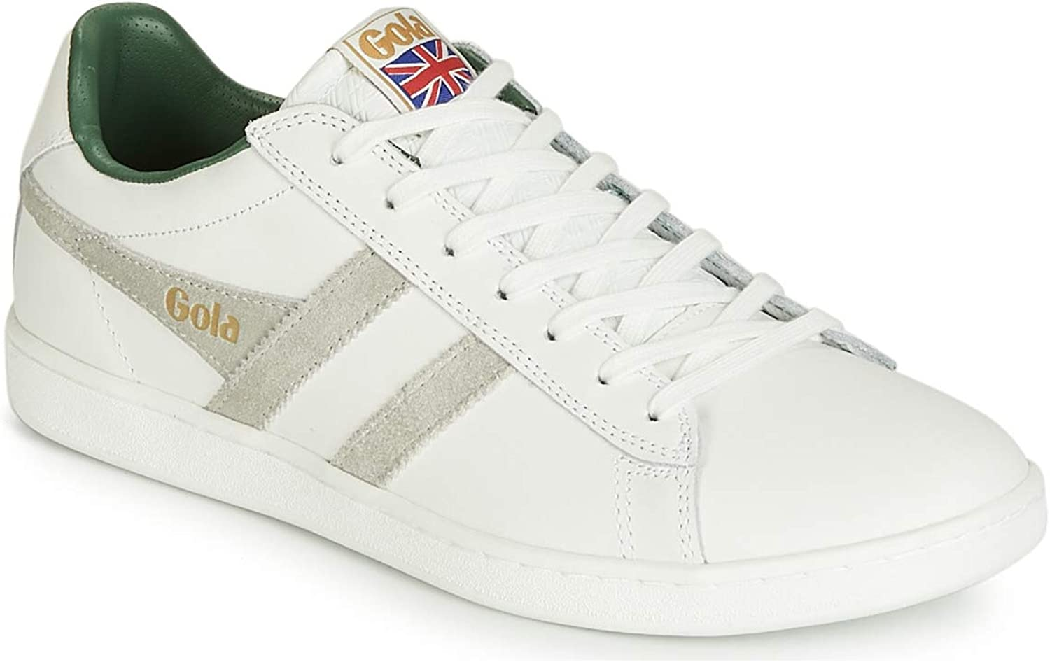 Gola Men's Equipe Mesh Sneakers   White Green White