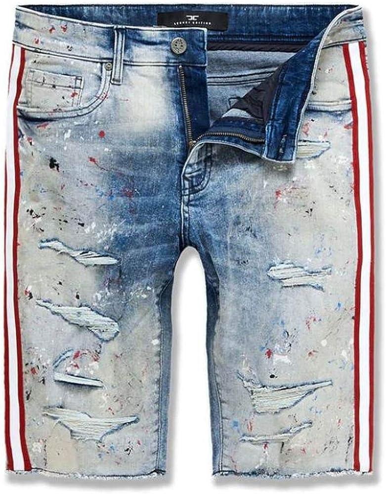 Jordan Craig Sparta Striped Denim Shorts (South Beach)