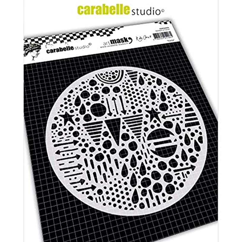 Carabelle Studios Round Art Mask Stencil, Spiderweb, for Creating Patterned Backgrounds and Artwork for Craft Projects, 6 in