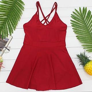 純粋な色のワンピースドレス控えめなスリムなスリムな腹セクシーな小さな胸が集まった温泉水着