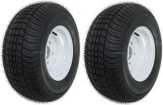 eCustomRim 2-Pack Trailer Tires Rims 20.5 8 10 205/65-10 20.5X8.0-10 10 in. 5 Lug E White
