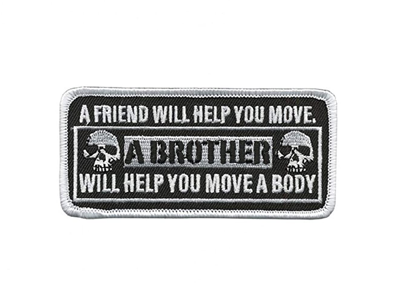 Officially Licensed Originals A Friend Will Help You Move, A Brother Will Help You Move A Body, Iron-On / Saw-On Rayon Patch - 4