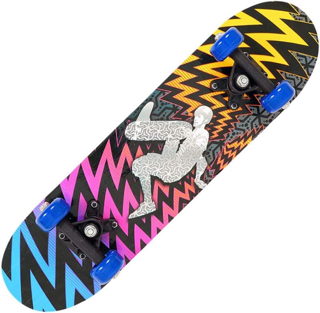 AxiBa 17 Inch Mini Wooden Skateboard Suitable Begin Skateboarders Great Gift for Boys Girls Kids