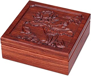 Toiletry Bags Jewelry Box Jewelry Display Box Three-dimensional Carved Solid Wood Jewelry Storage Display Box Dressing Table Decorative Jewelry Storage Box Large-capacity Home Accessories Jewelry Stor