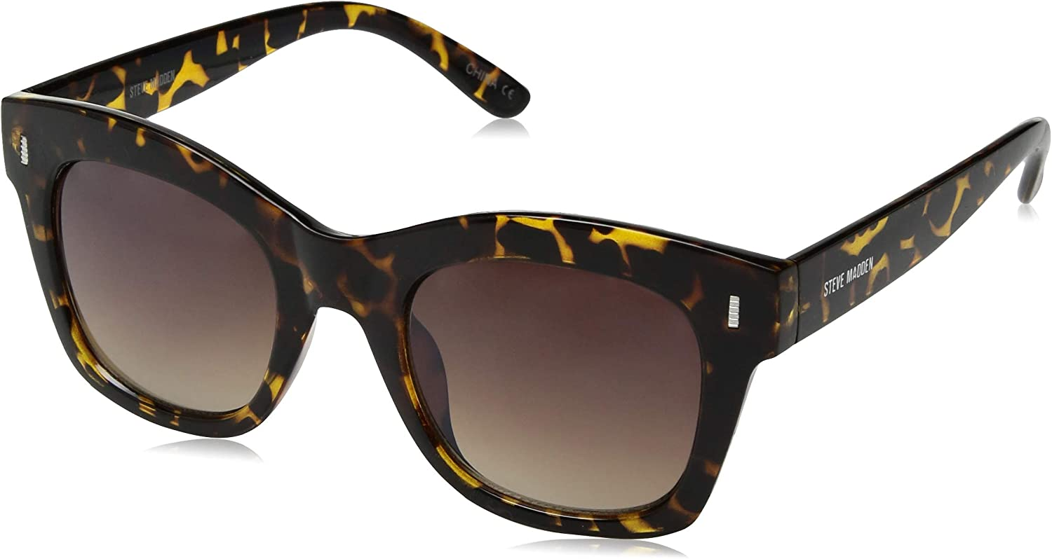 Steve Madden Women's Sm863141 Square Sunglasses Tortoise 50 mm
